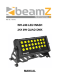 Instruction manual BeamZ WH248 LED Wash 24x8WQuad DMX