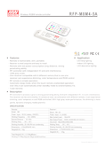 Data sheet Meanwell RFP-M8M4-5A, RGBW Wireless-Controller