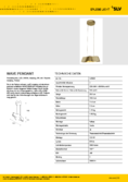 Data sheet SLV WAVE PENDANT brass
