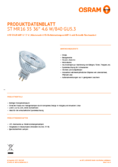 Data sheet Osram LED STAR MR16 (GU5.3) 35 36° 5W 840