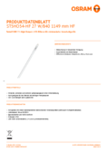 Data sheet Osram SubstiTube Advanced HO 27W 1200mm 840 HF T5