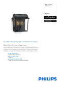 Data sheet Philips myGarden wall light Harvest Black Edition, black