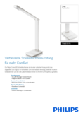 Data sheet Philips myHomeOffice table lamp Crane white