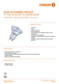 Spécifications Osram LED STAR PAR16 50 5W 840 GU10