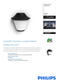 Data sheet Philips myGarden wall light Serres, black