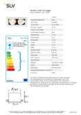 Data sheet SLV KADUX 2 GU10 Downlight square white