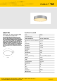 Data sheet SLV MEDO 40 LED ceiling light grey