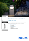 Data sheet Philips myGarden outdoor lamp Capricorn 6W grey