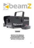 Instruction manual BeamZ S500 Smoke Machine incl 250ml fluid