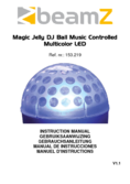Betriebsanleitung BeamZ Magic Jelly DJ Ball Sound MC LED
