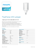 Data sheet Philips TrueForce LED HIL 32-25W E27 740 frosted