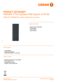 Data sheet Osram ENDURA STYLE UpDown Midi Square 14W grey