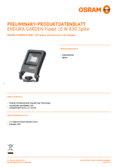 Hersteller Datenblatt Osram ENDURA GARDEN Flood 10W 830 SPIKE