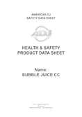 Data sheet ADJ bubble juice ready mixed 5 L