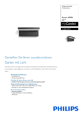 Data sheet Philips myGarden LED wall light Bustan anthracite