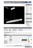 Data sheet WOFI pendant light VANNES 90cm