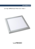 Data sheet Lumego SIRIUS LED Panel silber 30x30cm