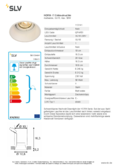 Data sheet SLV HORN-T GU10 Downlight white