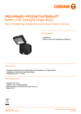 Hersteller Datenblatt Osram Battery LED-Spotlight Single schwarz