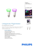 Data sheet Philips Hue White and Color Ambiance LED E27 set of 2 RGBW 10W