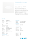 Data sheet Philips CoreLine Slim Downlight 13W 830