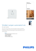 Data sheet Philips Hue motion sensor