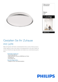 Data sheet Philips myLiving ceiling light Denim 35cm chrome