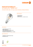 Data sheet Osram LED STAR RETROFIT CLA 60 FIL Mirror silver non-dim 7W 827 E27