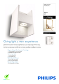 Data sheet Philips myLiving wall light Metric white