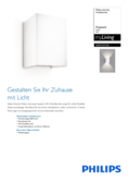 Data sheet Philips myLiving Hopsack wall light white