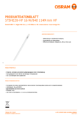 Data sheet Osram SubstiTube Advanced HE 16W 1200mm 840 HF T5