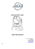 User instruction ADJ Focus Spot ONE