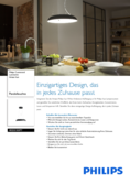 Data sheet Philips hue Amaze LED pendnant light black