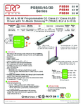 Data sheet ERP-Power PSB40E-1400-27-T, 700-1400mA, Constant Current Source
