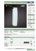 Data sheet WOFI wall light LORENZ