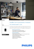 Data sheet Philips hue Pillar LED 1 Spot black