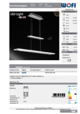 Data sheet WOFI pendant light MISSION