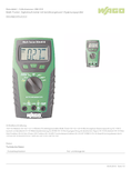 Hersteller Datenblatt Wago 206-810 Digital-Multimeter