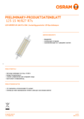 Data sheet Osram LED SST DIM  LINE 118  HS 125 15W 827 R7S 118mm