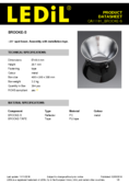 Datasheet Ledil Reflector 45mm for Bridgelux ES series, 24°