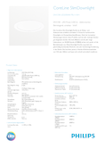 Data sheet Philips CoreLine Slim Downlight 28W 840