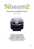 Manuel d'instructiones BeamZ Mini Star Ball Sound RGBWA LED 6x3W