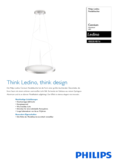 Data sheet Philips myLiving pendant light Cennium