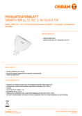 Spécifications  Osram Smart+ Spot GU5.3 MR16 35 TW