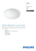 Data sheet Philips myLiving LED ceiling light Wawel white 48cm