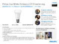 Spécification Philips Hue LED E27 White Ambience Erweiterung 9,5W