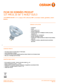 Spécifications Osram LED SST DIM MR16 20 36° 3,4W 827 GU5.3