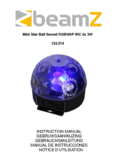 Manuel d'instructiones BeamZ Mini Star Ball Sound RGBWAP IRC6x3W