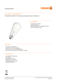 Data sheet Osram LED RETROFIT ST64 25 2W E27 clear non dim