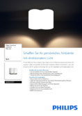 Data sheet Philips hue Pillar LED 2 Spot white